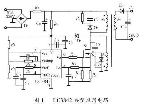这一直流电压被m0s功率管斩波并通过高频变压器降压,变成频率为几十k